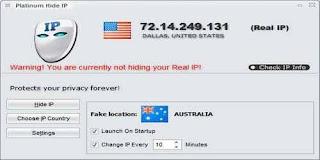 تحميل برنامج Platinum Hide IP لاخفاء الاي بي وفتح المواقع المحجوبة للكمبيوتر