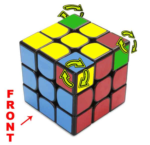 how to solve rubik's cube 3x3 step by step picture
