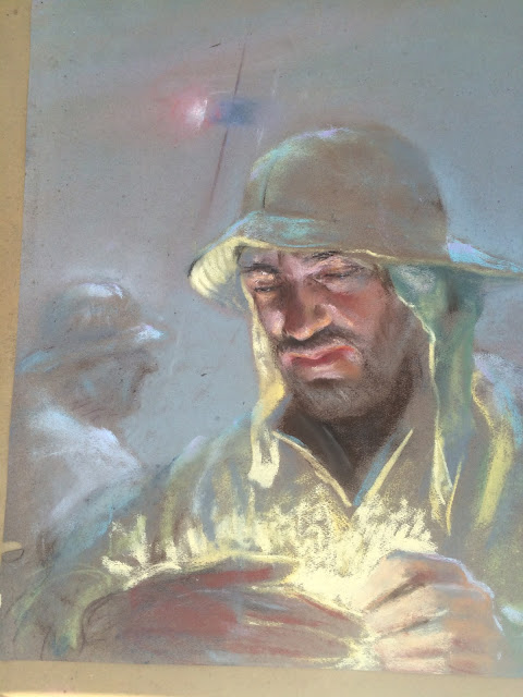 Quirk Art, Francis Quirk Fishermen, Quirk painting, fisherman Image Francis Quirk