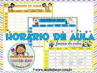 Ensino fundamental, horario escolar, tabela para horario escolar,