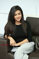 Telugu Actress Mishti Chakraborty Latest Pos in Black Top at Smile Pictures Production No 1 Movie Opening  0206.JPG
