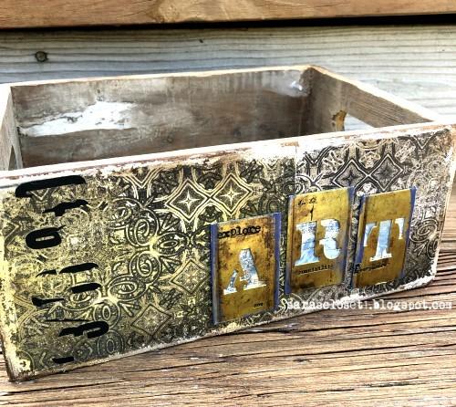 Sara Emily Barker https://sarascloset1.blogspot.com/2019/09/abandoned-storage-box-for-vintage.html Altered Storage Box 1