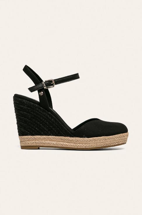 Tommy Hilfiger - Sandale negre cu platforma de vara casual