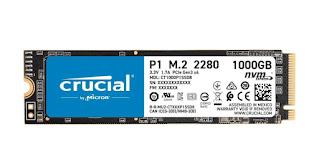 1Tb SSD, Crucial P1 1TB 3D NAND NVMe PCIe M.2 SSD