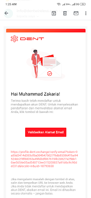 cara verifikasi email dent