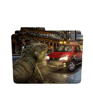 Creative Monster Lizard Scene Folder Icon