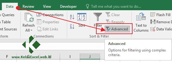 Langkah Menggunakan Advanced Filter Pada Excel 3