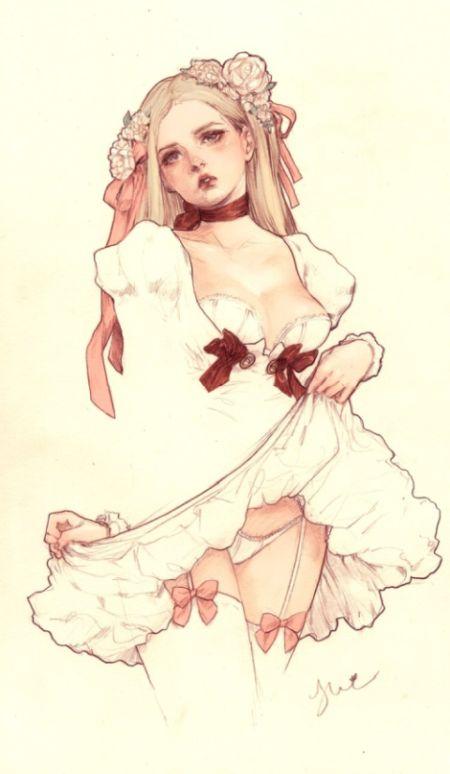 Jasmin Darnell arte ilustrações desenhos mulheres vintage