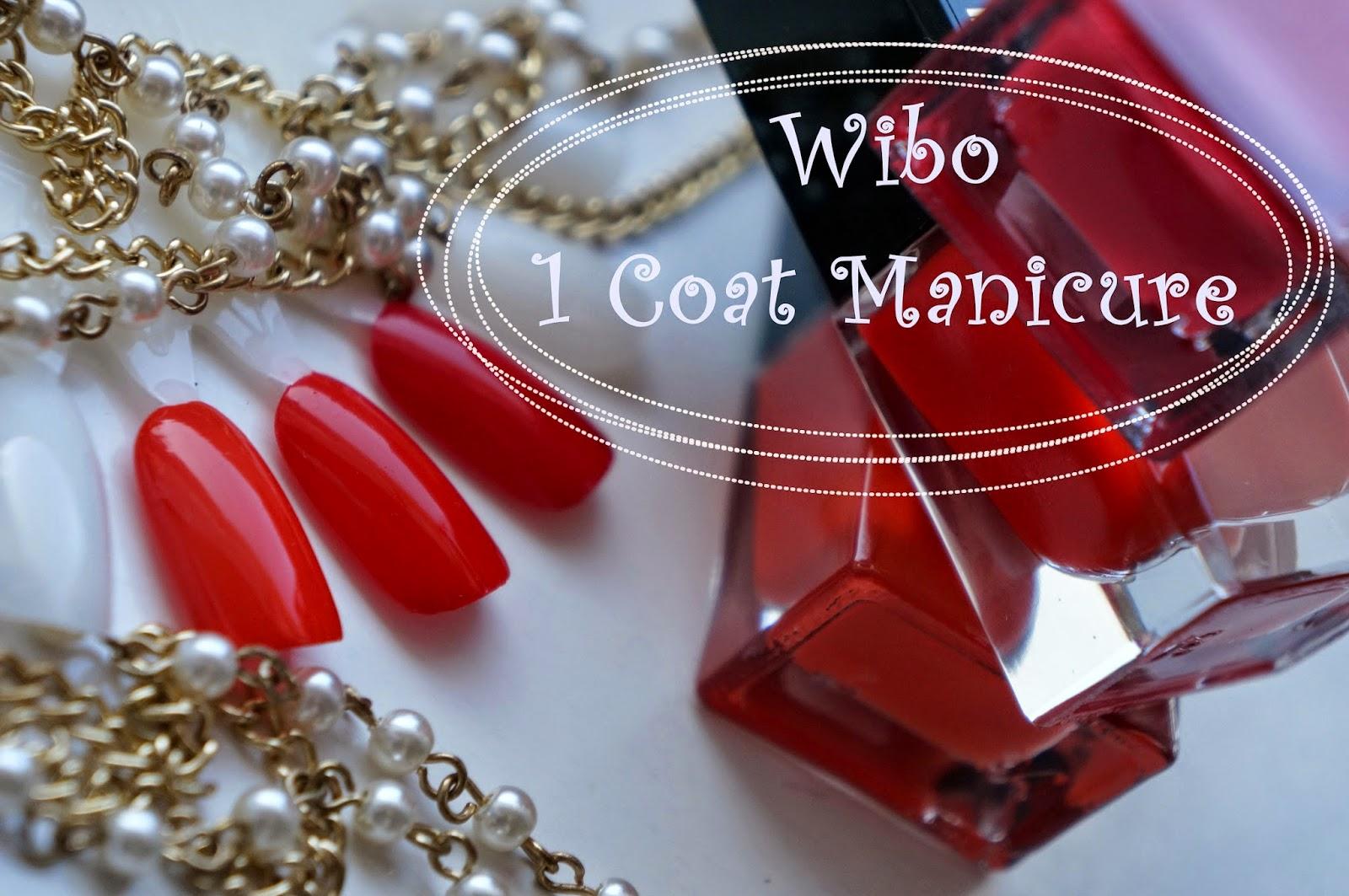 50 odcieni czerwieni... czyli Wibo 1 Coat Manicure nr 1, 3, 5