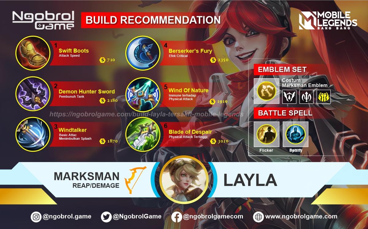 Build Layla Tersakit 2021 Mobile Legends