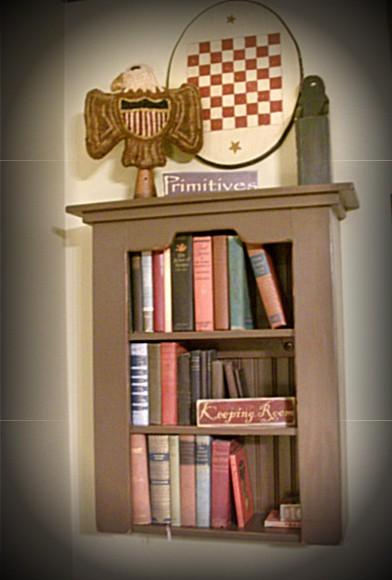 Sunburnt Cow Handmade Shop Handmade Primitive Wall Bookcase Cabinet