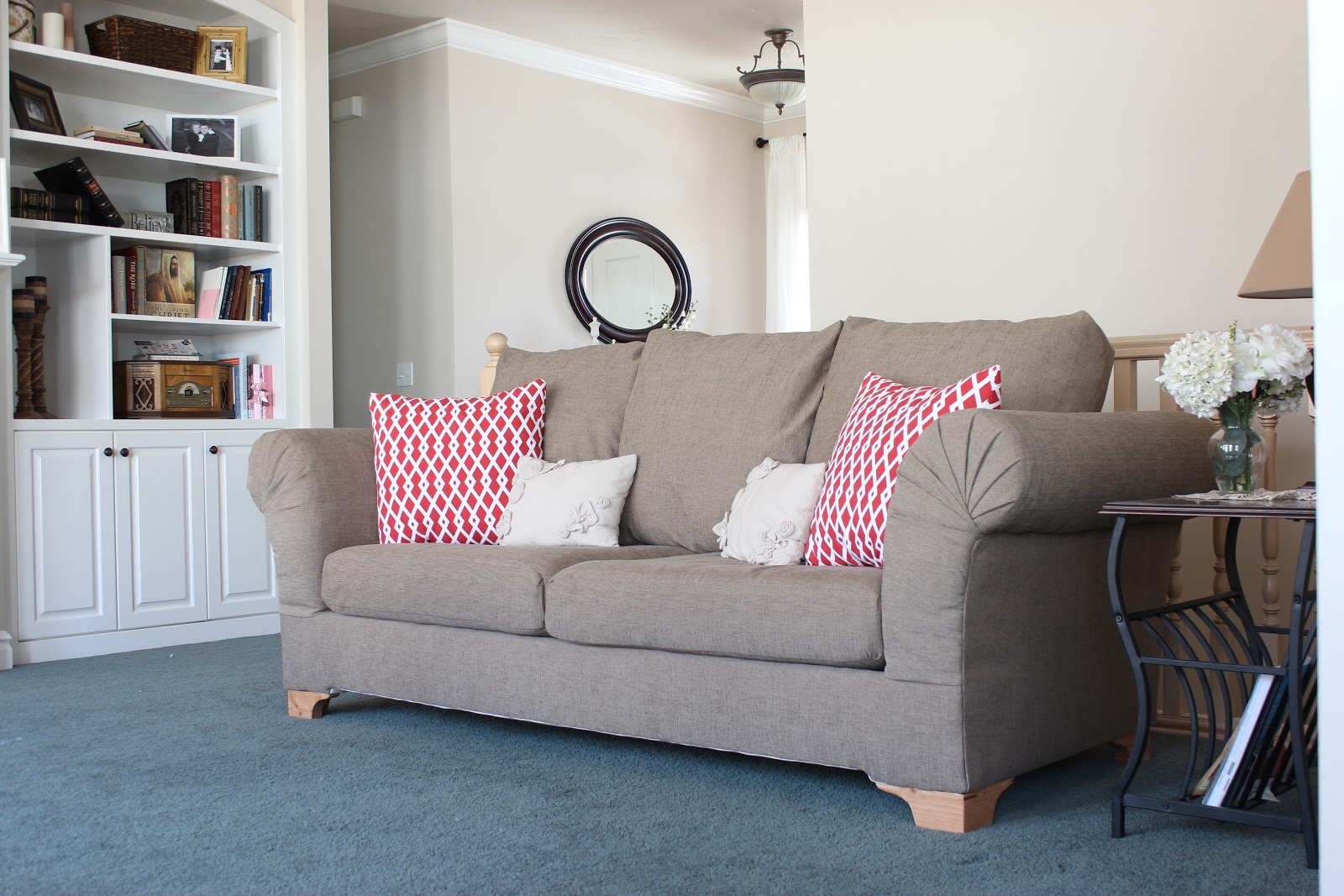 Do It Yourself Divas DIY Strip Fabric From A Couch And Reupholster It