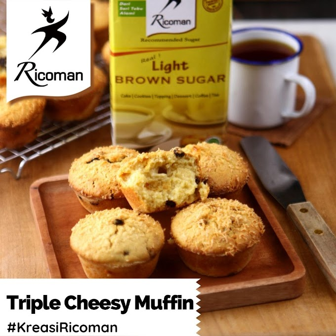 [RESEP] Triple Cheesy Muffin
