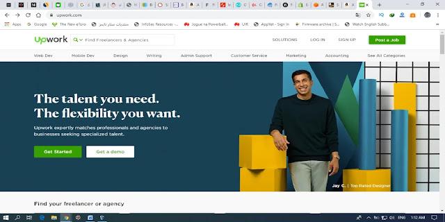 الموقع الاول موقع الربح من الانترنت UPWORKS.COM .