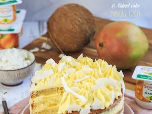 Naked cake mangue noix de coco