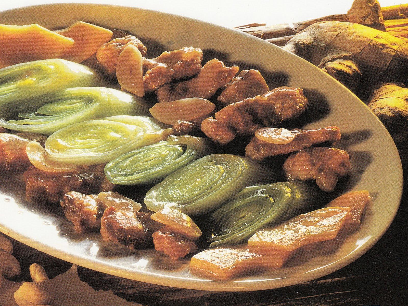 La cucina cinese agnello con porri for Cucina cinese ricette