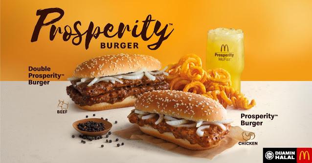 Harga McDonald's Prosperity Burger Mcd
