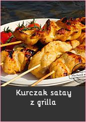 Kurczak satay z grilla filet z kurczaka w marynacie marynata satay na patyku grill bbq przepis recipe chciken grill w plenerze