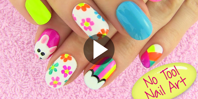 How To Create 5 Nail Arts Without Any Tools - See Tutorial