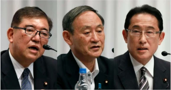 Japan's ruling party chooses a successor to Prime Minister Abe