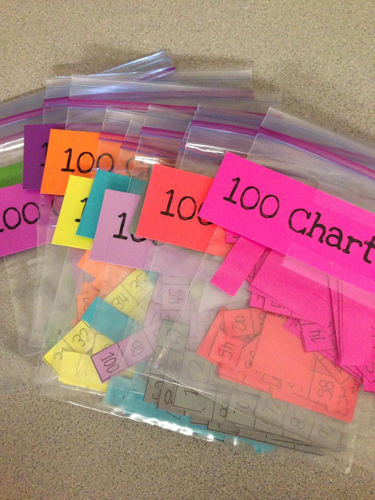 First Grader Last 100 Chart Puzzles