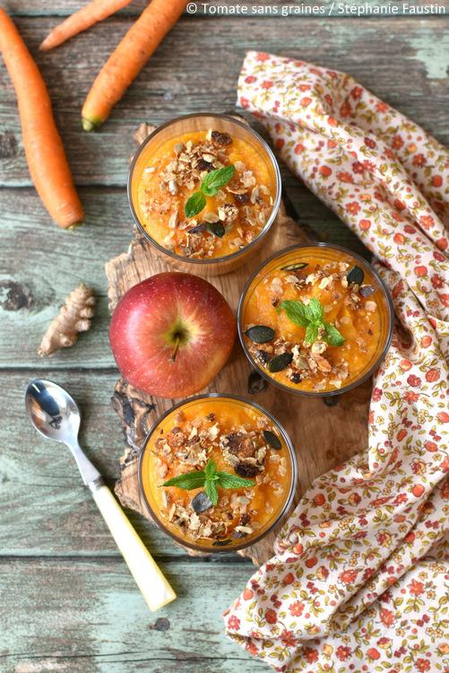 Compote de pomme, carote et gingembre à l'Omnicuiseur Vitalité