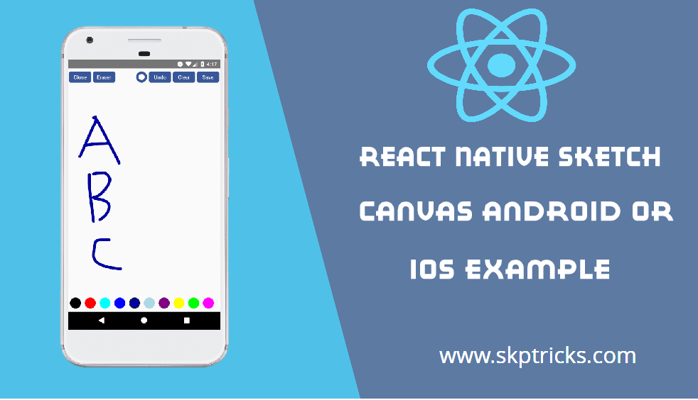 React Native Sketch Canvas Android or IOS Example | SKPTRICKS
