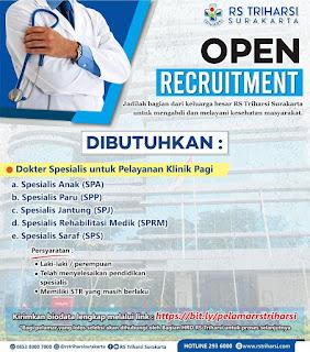 Lowongan Kerja Surakarta : Analis Kesehatan, Perawat, Bidan, Apoteker, Rekam Medis, Radiografer, dll
