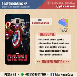 Casing HP Captain America dan Iron Man - MARVEL CIVIL WAR (2016)