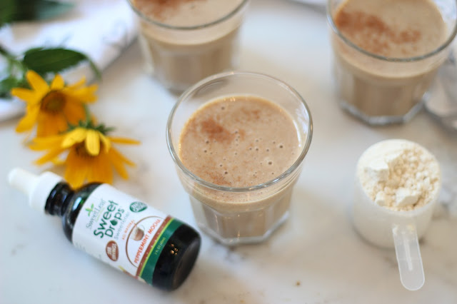 Healthy drink recipe: protein latte
