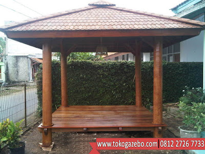 Gazebo Polos Atap Sirap Jepara