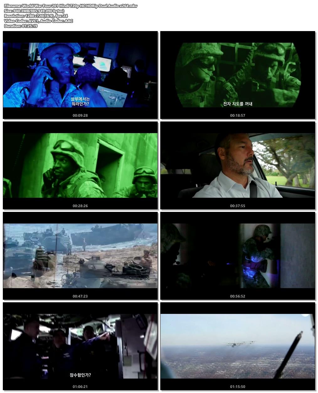 World War Four 2019 Hindi 720p HC HDRip Dual Audio x264 | 480p 300MB | 100MB HEVC Screenshot
