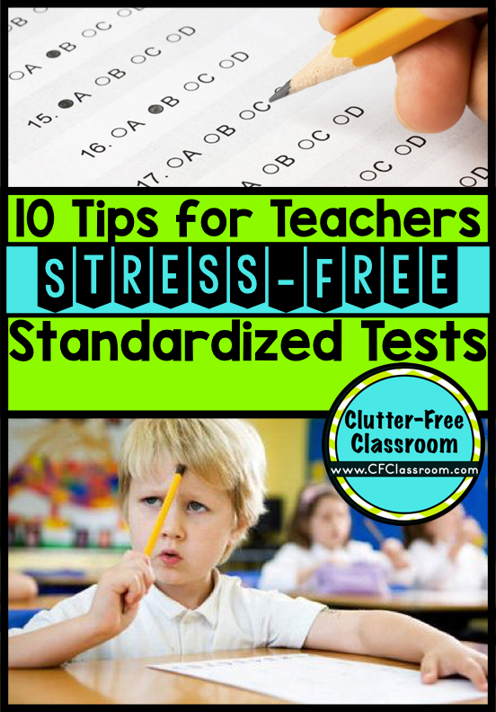 Tips for Stress-Free Standardized Testing helps teachers & students prepare for PARCC & other mandated tests. Get the kids ready without wasting valuable class time cramming in test prep. An experienced teacher shares great ideas that have worked for standardized tests in her 3rd grade classroom.