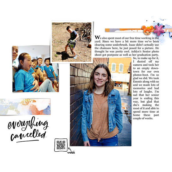 Project Life type Digital Scrapbook Page - Week 15