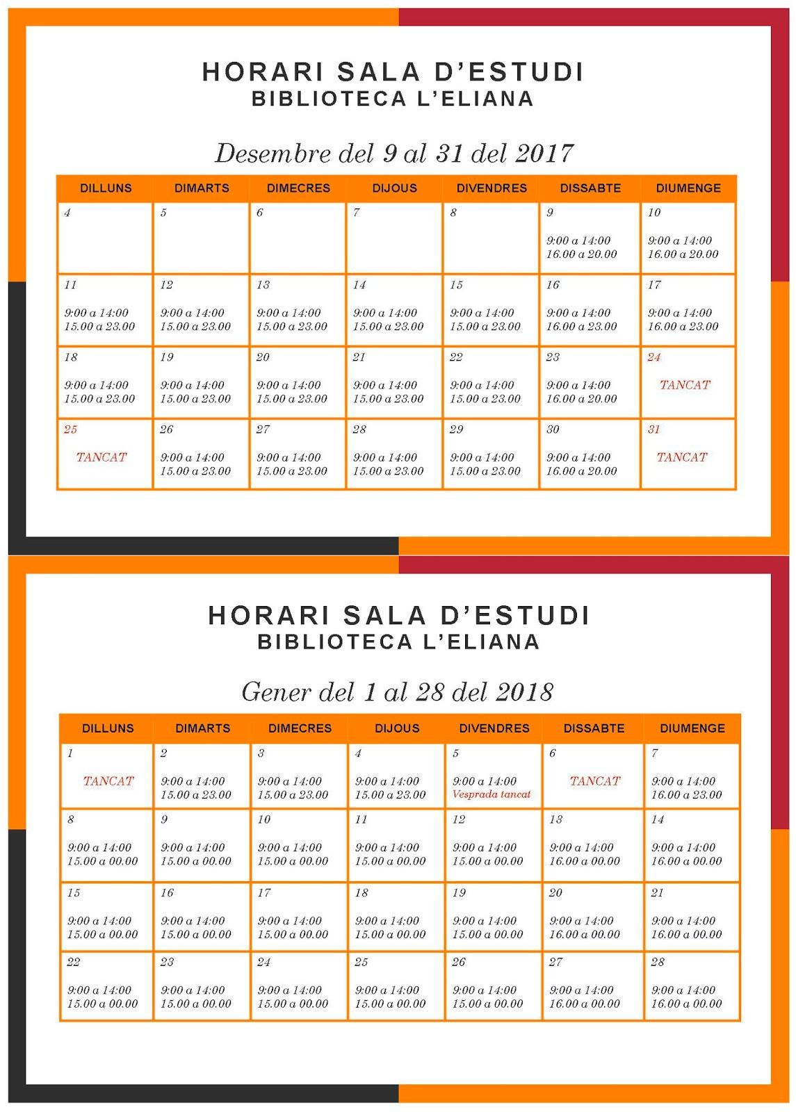 L 39 eliana modifica l 39 horari de la biblioteca municipal per - Biblioteca l eliana ...
