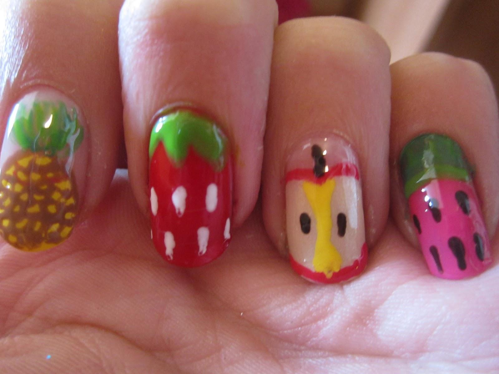 Nailartloverss: Fruit nail art