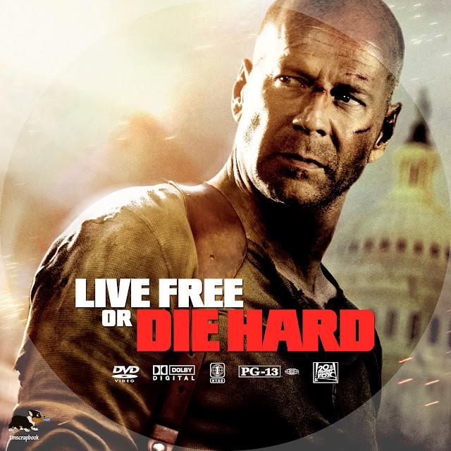 Live Free Or Die Hard DVD Label