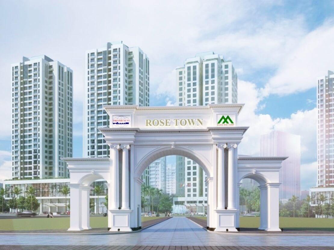Cổng chào dự án Rose Town Ngọc Hồi