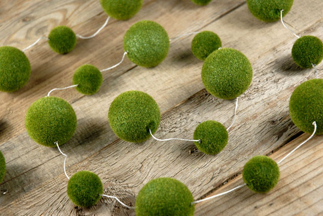 diy strung moss balls