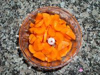 Zanahoria picada con aceite