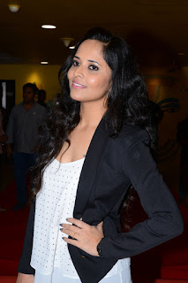 anasuya stills at imax