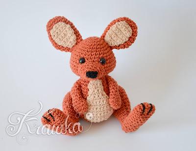 Krawka: Kangaroo crochet pattern - Winnie the Pooh inspired roo amigurumi crochet pattern by Krawka