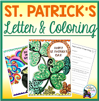 st. patrick's day letter and coloring sheets