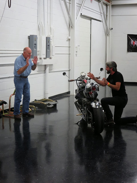 Alan Cathcart and JT Nesbitt discuss the Bienville Legacy motorcycle