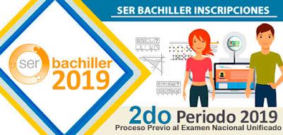 SER BACHILLER INSCRIPCIONES SENESCYT 2DO PERIODO 2019 SIERRA SERBACHILLER.EC