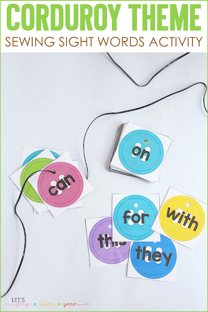 Corudroy: Sewing Sight Words