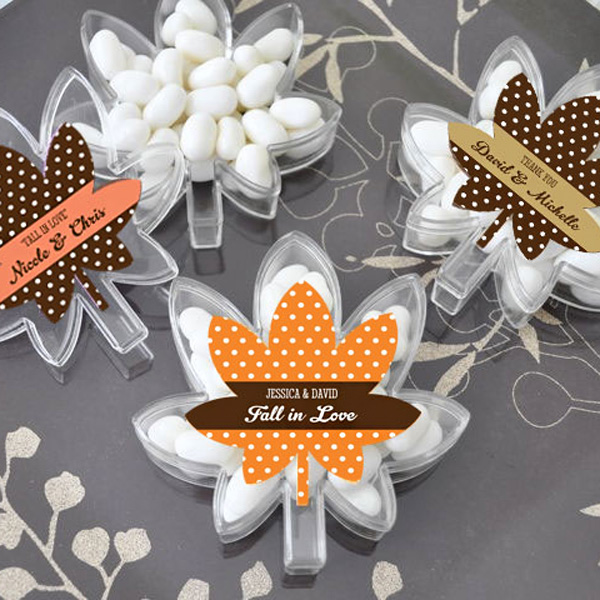 Fall Themed Personalized Candy Boxes