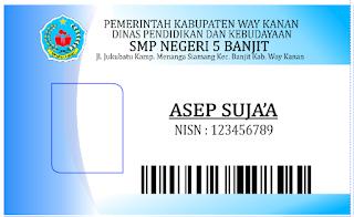Download Desain Kartu Pelajar SMP Corel   Solusi Cetak ID ...