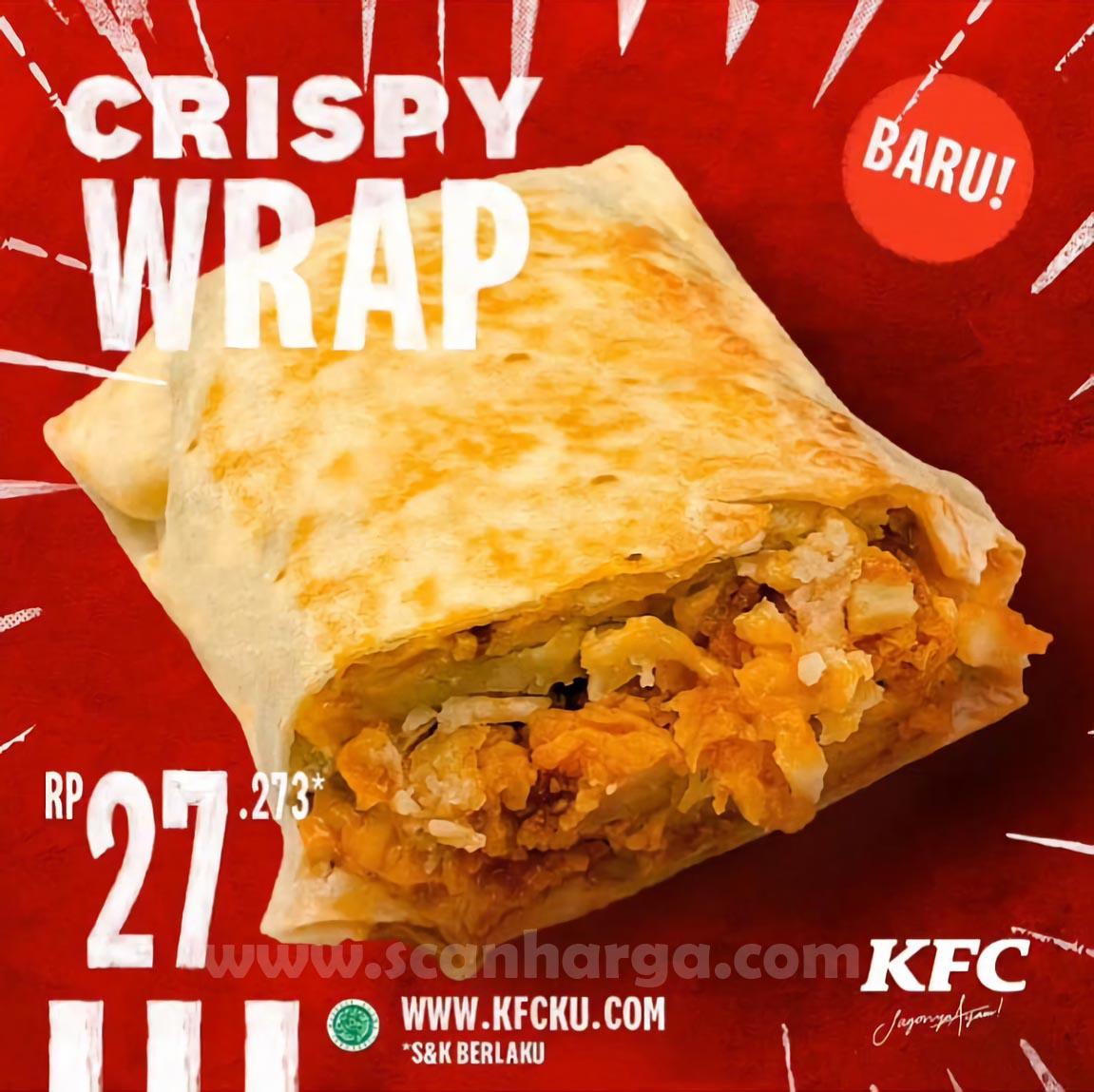 KFC Crispy Wrap Menu Baru Harga mulai Rp 27.273