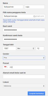 cara daftar email gmail